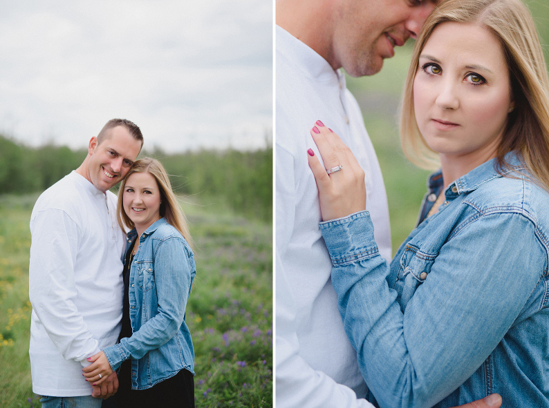 Happy edmonton engaged couple portrait